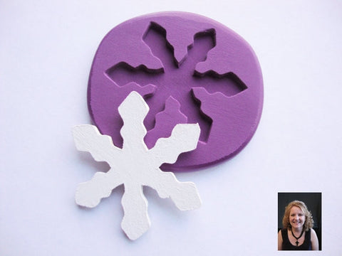 """NEW"" ~ Large~ Snowflake Mold  #2"