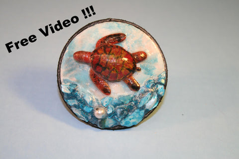 Sea Turtle Necklace FREE Video Tutorial