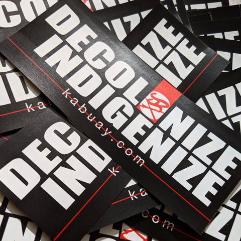 Decolonize Indigenize sticker pack