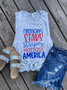 July 4th Words Tank | Wholesale