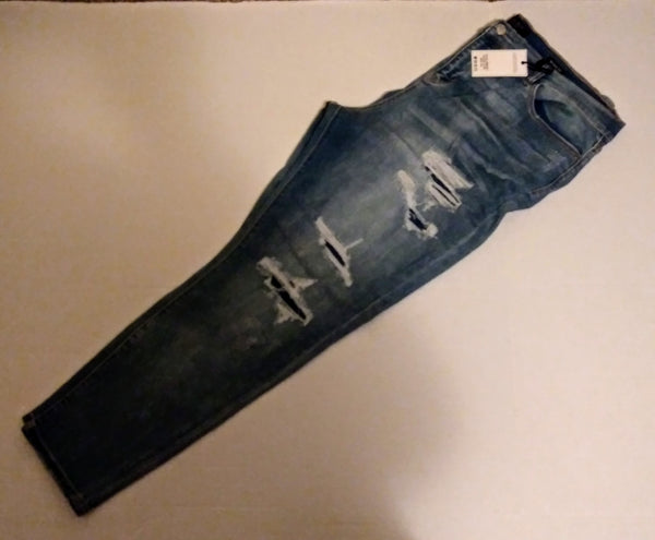 Plus size Judy blue distressed jeans