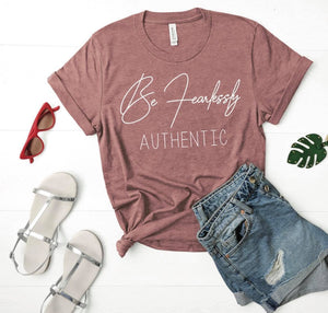 Be Fearlessly Authentic-Mauve | Wholesale