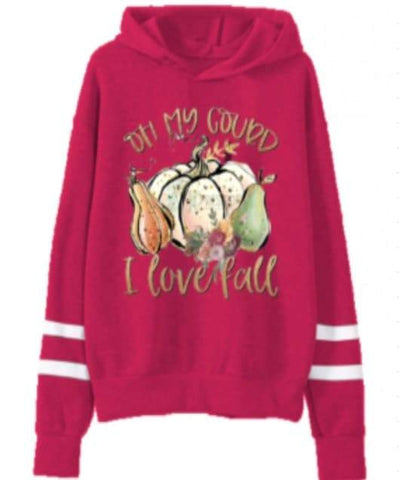 [PREORDER] Fall Preorder: Oh My Gourd I Love Fall Hooded Sweatshirt - Child