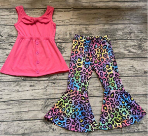 All Buttoned Up Bells Set - Psychadelic Pink Leopard