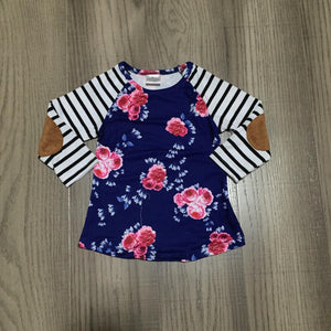 Blue Roses & Patches Tee (Child)
