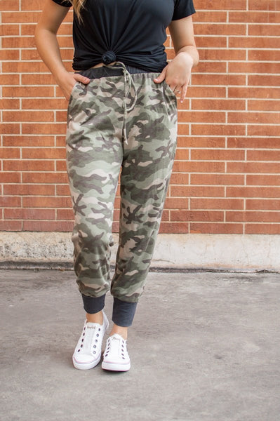 Accent Joggers | Camo and Charcoal