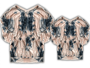 [PREORDER] Fall Preorder: Dusty Rose / Gray Tie Dye Long Sleeve Tee