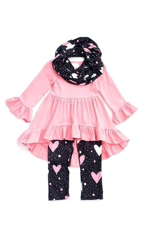 Pink Bell Sleeve 3 Pcs Set