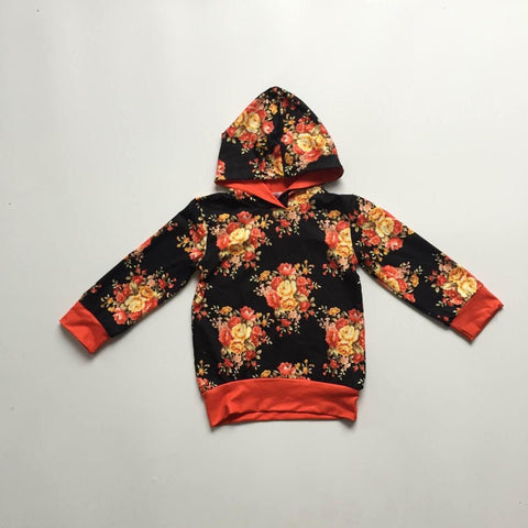 [PREORDER] Fall Floral Hooded Top (Child)