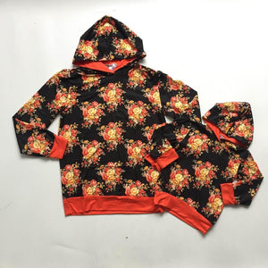 Fall Floral Hooded Top  (Adult)