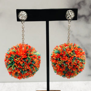 August Nights Skinny Pom Earrings