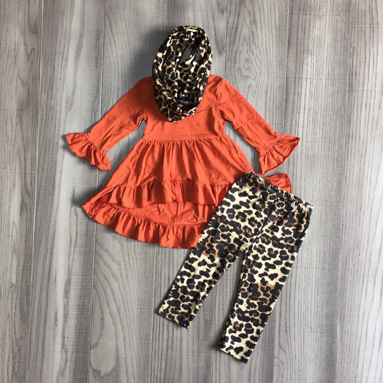 Leopard Sunset Scarf Outfit