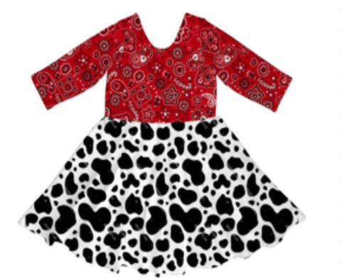[PREORDER] Fall Preorder: Moos and Bandanas Dress