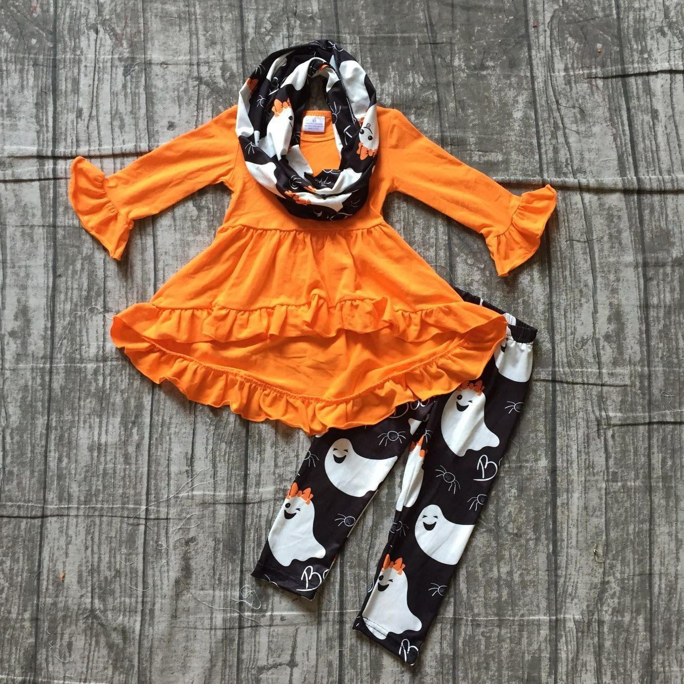 Orange Boo Scarf Outfit