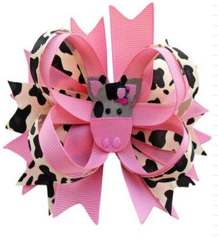 [PREORDER] Fall Preorder: Pink Moo Hair Bow