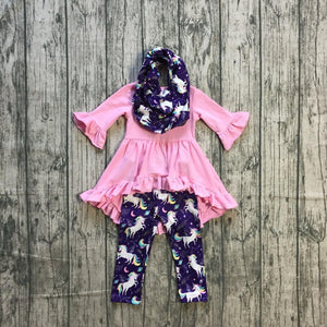 Pink Unicorn Galaxy Scarf Outfit