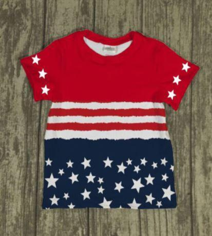 Stars and Stripes Shirt (Red white and blue)