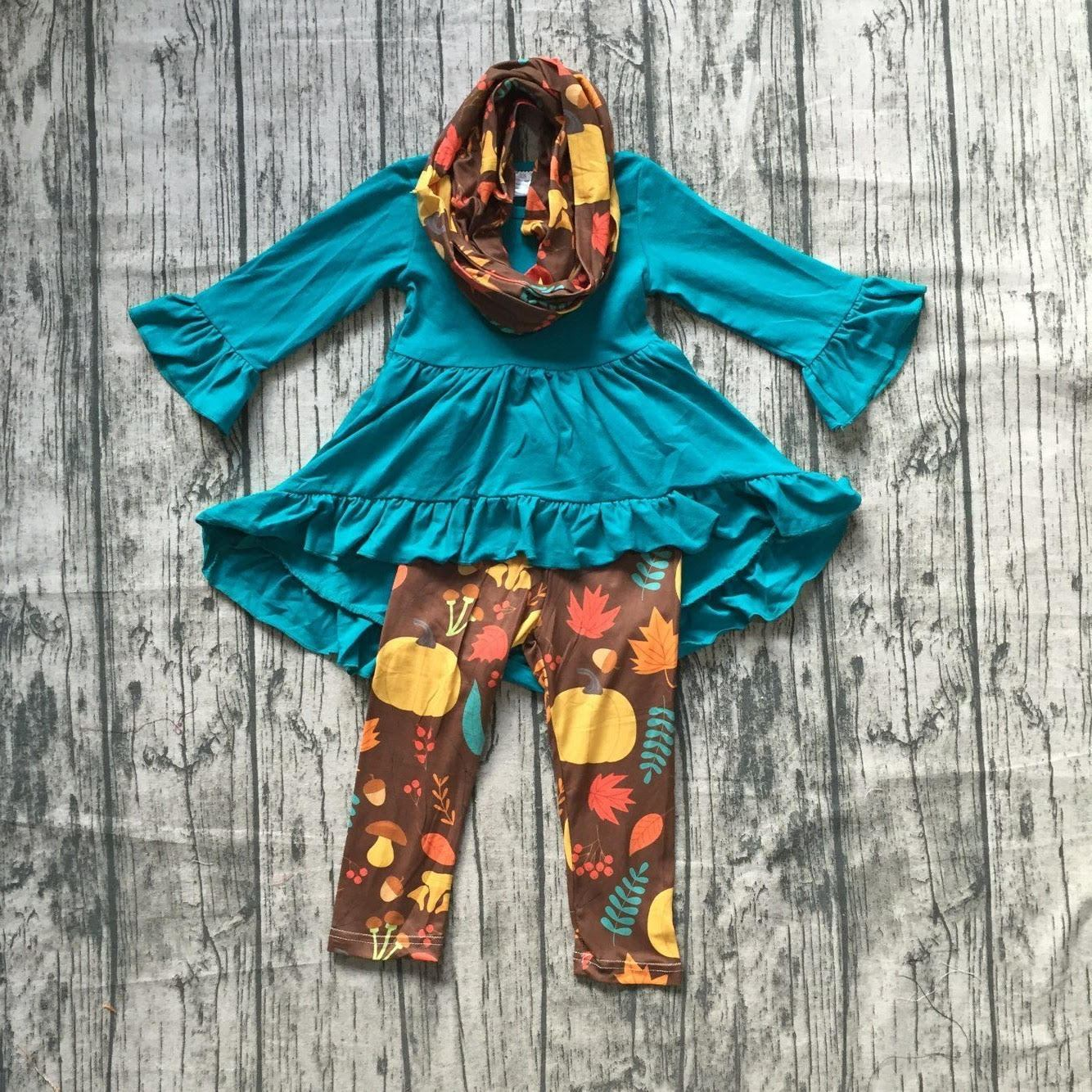 Teal Pumpkins Scarf Outfit