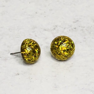12mm Confetti Glitter Studs with Stainless Steel Posts
