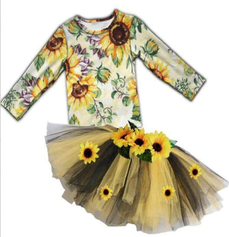 [PREORDER] Fall Preorder: Deluxe Sunflower Tutu Outfit