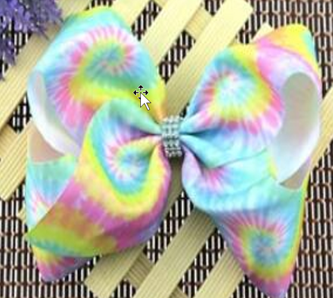 [PREORDER] Fall Preorder: Pastel Tie Dye Jeweled Hairbow