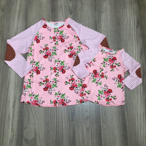 Pink Roses & Patches Tee (Adult)