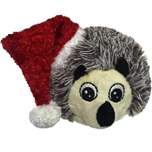 "4"" Christmas EZ Squeaky Hedgehog Ball"