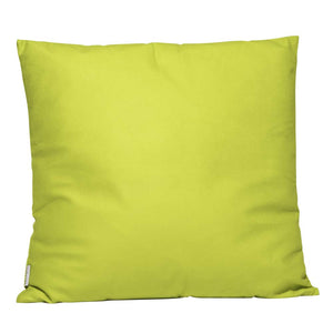 Eclante Lemon Green Velvet Throw Pillow | Soft Decorative Pillow