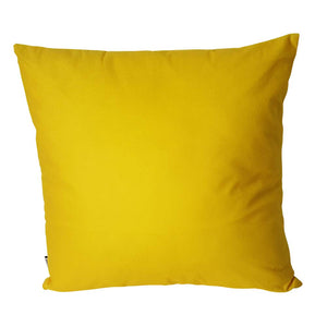 Eclante Yellow Velvet Throw Pillow | Soft Decorative Pillow