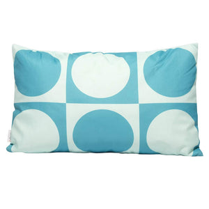 Eclante Gusto Indoor Outdoor Throw Pillow | Turquoise and Teal