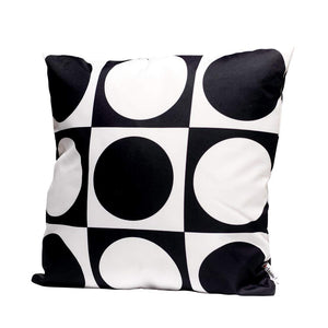 Eclante Gusto II Indoor Outdoor Throw Pillow | Black and White