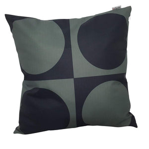 Eclante Gusto Indoor Outdoor Throw Pillow | Gray and Black
