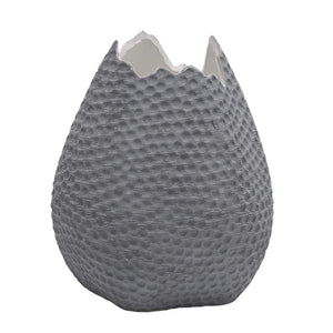 Eclante OVO Ceramic Decorative Vase Gray Color