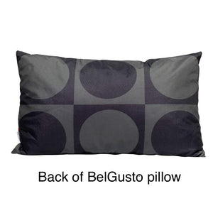 Eclante BelGusto Indoor Outdoor Throw Pillow | Gray, Black and Red | Stylish and Modern