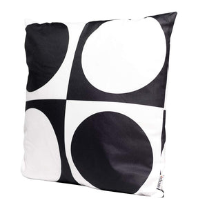 Eclante Gusto Indoor Outdoor Throw Pillow | Black and White