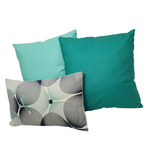 Eclante Teal Velvet Throw Pillow | Soft Decorative Pillow