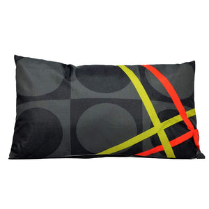 Eclante BelGusto Indoor Outdoor Throw Pillow | Gray, Black, Lemon and Red