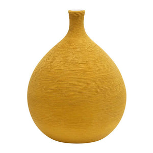 Eclante Periri Ceramic Vase Yellow Color
