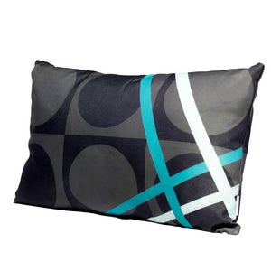 Eclante BelGusto Indoor Outdoor Throw Pillow | Gray, Black, and Turquoise