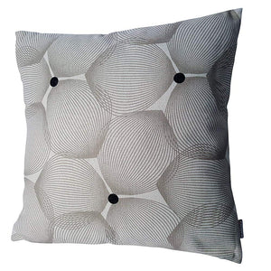 Eclante Efizzy Throw Pillow | Off White and Gray