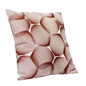 Efizzy Throw Pillow | Off White and Burgundy