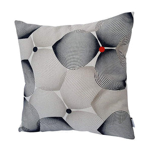 Eclante Efizzy Throw Pillow | Off White, Black and Gray