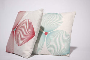 Estella Throw Pillow | Off White and Burgundy