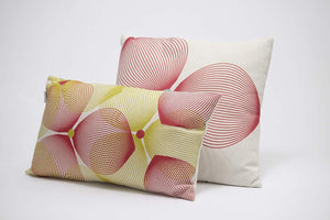 Efizzy Throw Pillow | Off White, Lemon Green and Burgundy