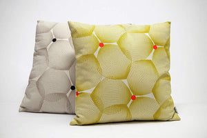Efizzy Throw Pillow| Off White and Lemon Green