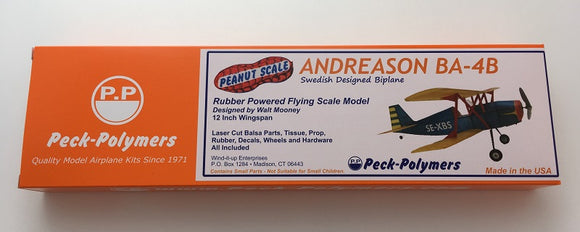 Peanut Scale Andreason Biplane Model Kit