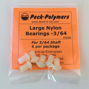 Large Nylon Bearings - 3/64