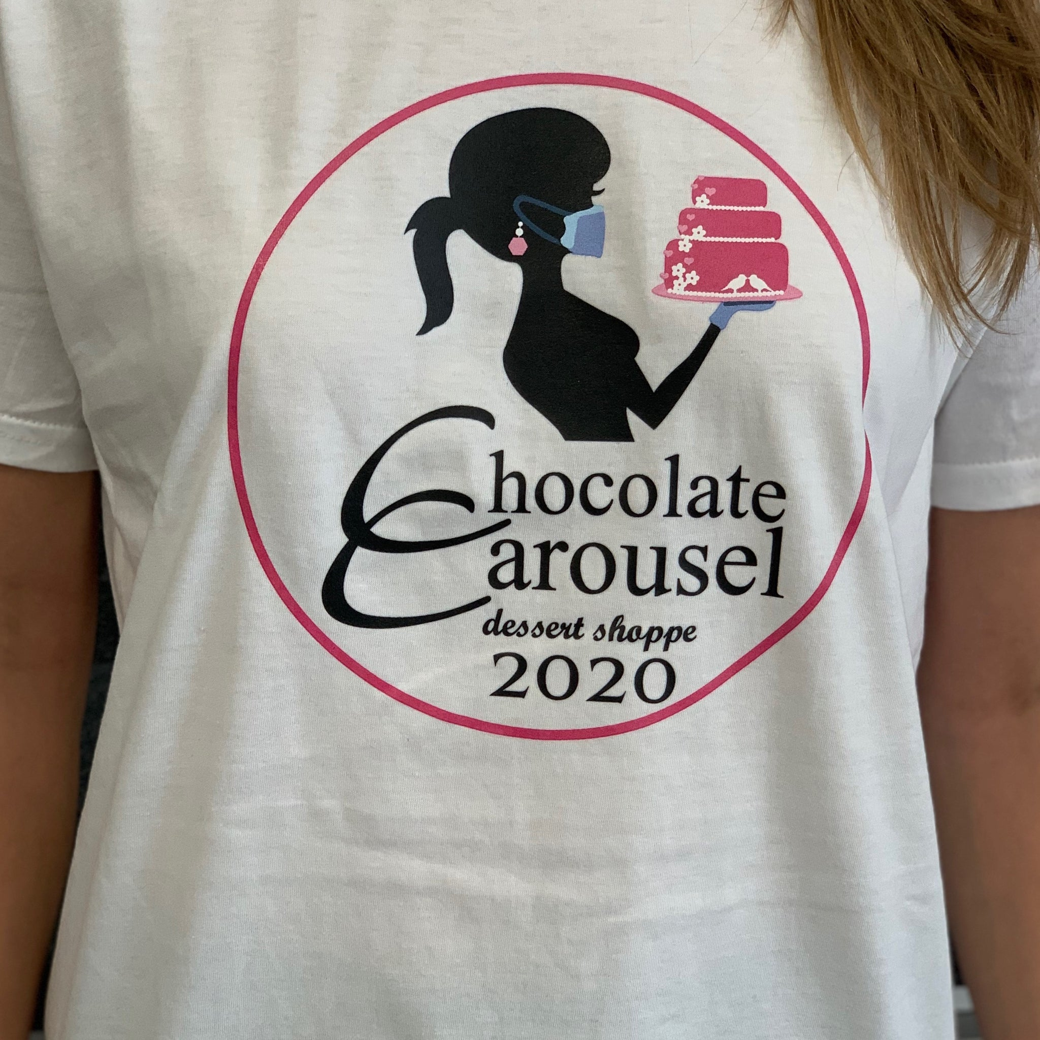 White 2020 Chocolate Carousel T-Shirt