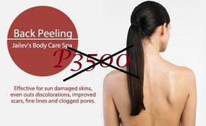 Back Peeling with Scar and Laser Treatment