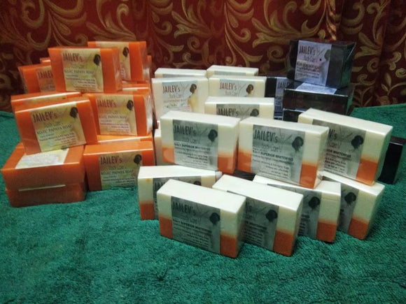 100pcs Kojic Soaps /GLuta Soaps /5in1 Soaps Private Label Plastic Pack
